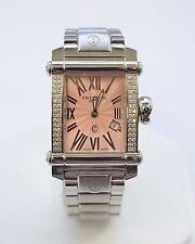 W174-Charriol Pink Face Diamond Case Watch