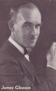 JAMES  GLEASON-actor/PLAYRIGHT/screenwriter 1926 arcade/exhibit postcard/ RARE
