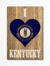 I Love Kentucky Flag Heart Fridge Magnet