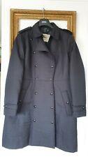 Burberry Prorsum Black Quilted Trench Coat Jacket Size Extra Large Uk 14 16