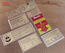RED BORDER ENGINE DECALS SET FOR EARLY PORSCHE 911 early stickers resto repro