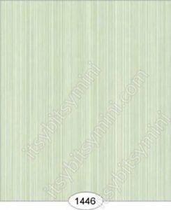Dollhouse Halfscale Wallpaper - Princess Stripe - Green