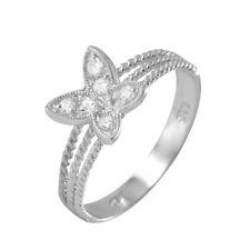 Neues AngebotSterling Silber Damen Cz Steine Schmetterling Ring