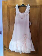 Girls Designer Kate Mack salmon pink Dress age 16 BNWT Christmas wedding