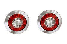 2 X MONARK LED 12 V & 24 V SCHLUSS BREMS BLINK LEUCHTE - CHROM LKW TRUCK TRAILER