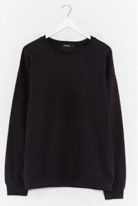 Nasty Gal AGG50702 basic oversized sweatshirt size Small black