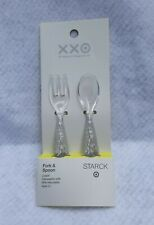 """PHILIPPE STARCK for Target Plastic Fork And Spoon Set 4.2"""" BPA Free NWT"""