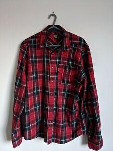Flannel Checked Shirt Red size Medium skate brand Volcom