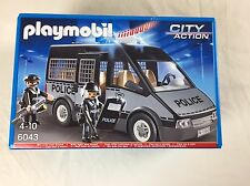 PLAYMOBIL 6043 CITY ACTION POLICE VAN WITH LIGHT AND SOUND BRAND NEW IN BOX
