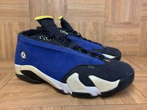 RARE🔥 Nike Air Jordan XIV 14 Retro Low Laney Blue Black Yellow 807511-405 Sz 11