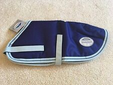WeatherBeeta Landa Dog Coat Rug Navy With Silver Trim - 35cm