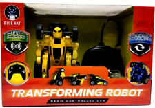 Blue Hat Toys Unisex Transforming Robot Radio Controlled Car Yellow