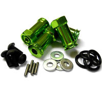 1/10 Scale RC Drive Wheel Hex Hub M12 12mm Extension Adapter x4 Green Alloy 25mm