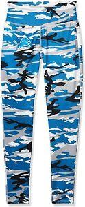 Zubaz Detroit Lions NFL Women's Camo Print Legging, Blue/Silver