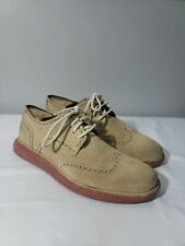 Cole Haan Lunargrand Long Wing Tip Suede C10228 Size 8m