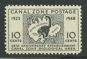 U.S. Possession Canal Zone stamp scott 141 - 10 cent issue of 1948 - mh - xx