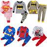 Toddler Baby Kids Boys Girls T-shirt Pants Tracksuit Set Superhero Sleepwear US