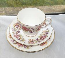 Vintage Colclough Bone China Honeysuckle Pattern 8581  Trio Cup Saucer Plate