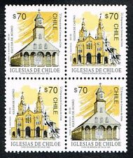 CHILE 1993 D.S.-20 STAMP # 1607/8 MNH TWO SERIES HERITAGE CHILOE's CHURCH