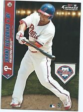 SHANE VICTORINO PHILADELPHIA PHILLIES FATHEAD TRADEABLES RED SOX STICKER 2011 40