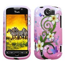 Pink White Flowers Case Cover T-Mobile myTouch 4G Slide