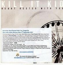 (CE780) Kill It Kid, Heart Rested With You - 2011 DJ CD
