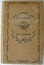 H. DRAHEIM DIE LIEDER DES HORAZ German + EX LIBRIS 1913