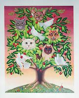 "Oherline ""Cat Tree""  Hand signed Ltd. Ed. Artist Proof Poster"