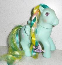 1985 My Little Pony Brush 'N Grow Ponies BRAIDED BEAUTY Purple W/Braided Design