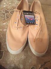 Vintage Jantzen Low Canvas Sneakers Tennis Shoes Beige Ivory Size 10 (Xl) New