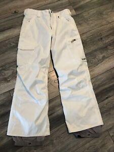 Burton White Dry Ride Snowboard Pants Women's Xsmall Very Nice