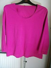 Per Una Pink/Mauve Long Sleeve Cotton Top with Stretch, Size 18, M&S