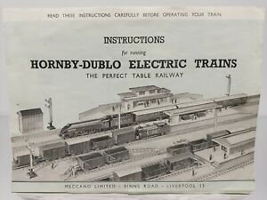 RARE MECCANO HORNBY DUBLO 1949 INSTRUCTION SHEET SHOWS PREWAR BUILDINGS