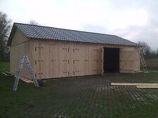 Garage Holzgarage 12m x 7,5m mit Satteldach  Fertiggarage  4 Tore