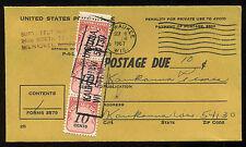 Vintage 1967 Postage Due Stamp Cover Kaukauna Wisconsin U.S.A.Envelope