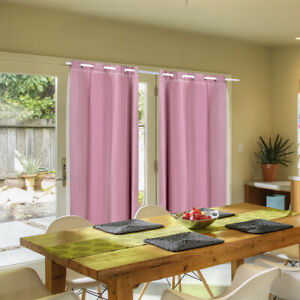 2 PCS Blockout Curtains Fabric 3 Layers Bedroom Living Room Darkening Draperies