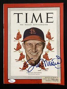 Stan Musial Signed Time Magazine 9/5/49 Cardinals Autograph HOF WSC  JSA