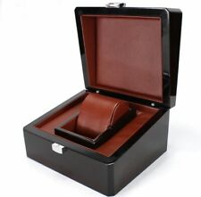 Deluxe Polished Wood Watch Box Presentation Case