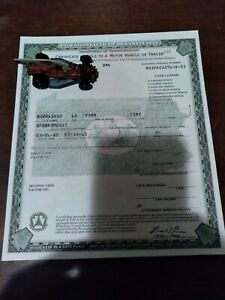 1965 Ford Mustang K-Code Convertible Paperwork Document