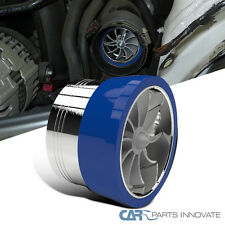 "3"" Air Intake Turbonator Turbo Fan Fuel Saver Kit w/ Blue Rubber Holder"