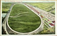 Atlanta, GA 1910 Postcard: The Auto Speedway - Georgia - Car Racetrack