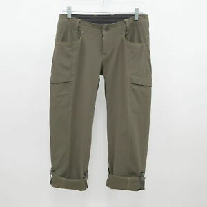 Kuhl Cargo Roll-Up Pants Womens 4 Reg Convertible Army Green Hiking Outdoor