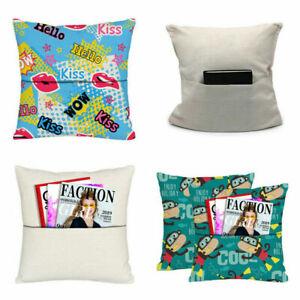 10Pcs Blank Cushion Linen Pillow Pillowcase Cushion for Sublimation DIY Printing