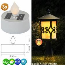 2er Set Tavolo Lampada Solare LED candele effetto illuminazione da giardino Lampada Terrazza