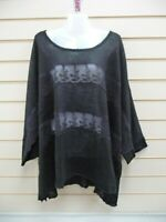 SHEEGO BLACK 22/24 SHEER JUMPER LACE SHEER DETAIL CASUAL    (G044