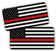 Firefighter American Flag | Hard Hat Decals | Helmet Stickers Thin Red Line USA