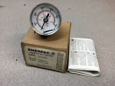 New Enerpac 1534r Hydraulic Pressure Gauge 15 Face Rear Mount 6000 Max Psi