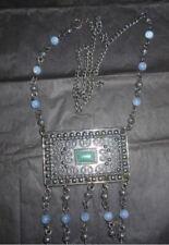 bijoux, collier,sautoir mexicain, améthystes et turquoise,bohème,ethnique