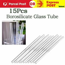 15pcs 300mm Borosilicate Glass Blowing Tube OD 10mm 1mm Thick Wall AU