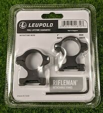 "Leupold Rifleman Detachable 1"" Scope Rings High, Matte Black - 55870"
